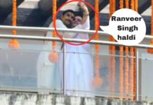 ranveer singh haldi ceremony