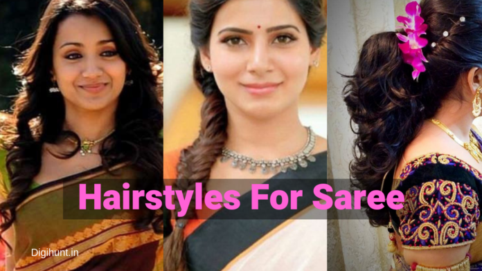 5 Trendy Hairstyles For Saree For Party Functions And Farewell