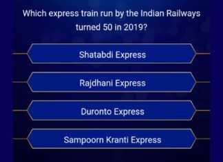 KBC 2019 question