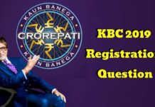 KBC 2019 Registration Question