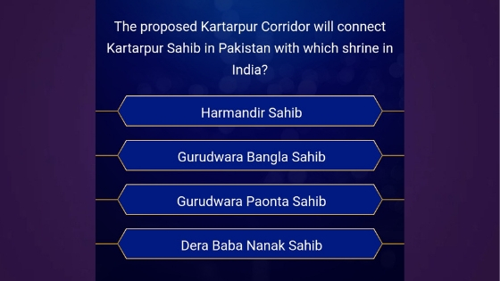 KBC 2019 question