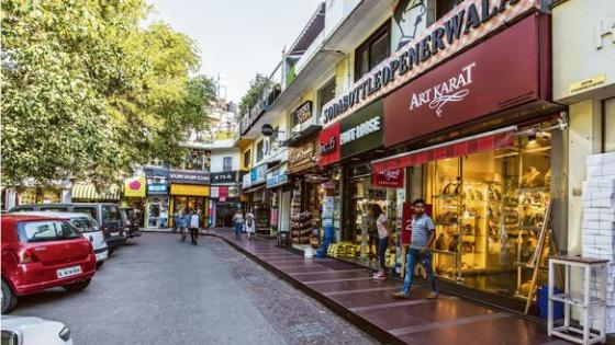 Street market in delhi khan market