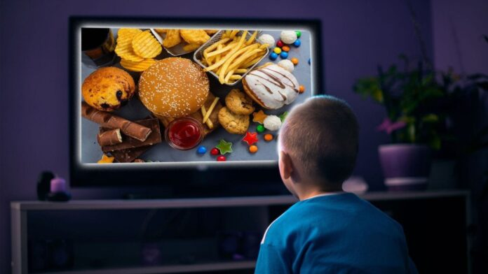 Food-related television advertisements linked to childhood obesity